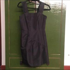 H&M ruched detail black mini dress