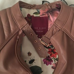 Authentic Ted Baker Kesha Quilted Leather Jacket