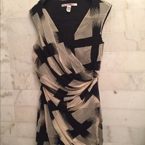 DVF silk rouched dress