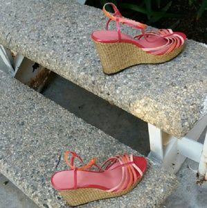 Christian Siriano Shoes - Christian Siriano wedge sandal heels pink coral