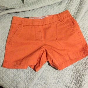 Burnt orange jcrew chino shorts