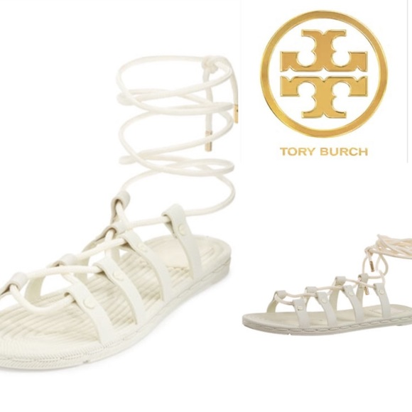 aec625b54 Tory Burch Rope Lace-Up Rubber Sandal