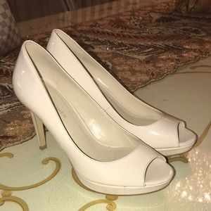 Marc Fisher Shoes - New with box white cream open toe pumps heels.