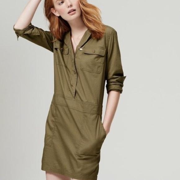 4f7a9a08309 LOFT Dresses   Skirts - Ann Taylor Loft army green military dress