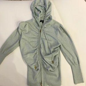 Express blue glittered hoodie