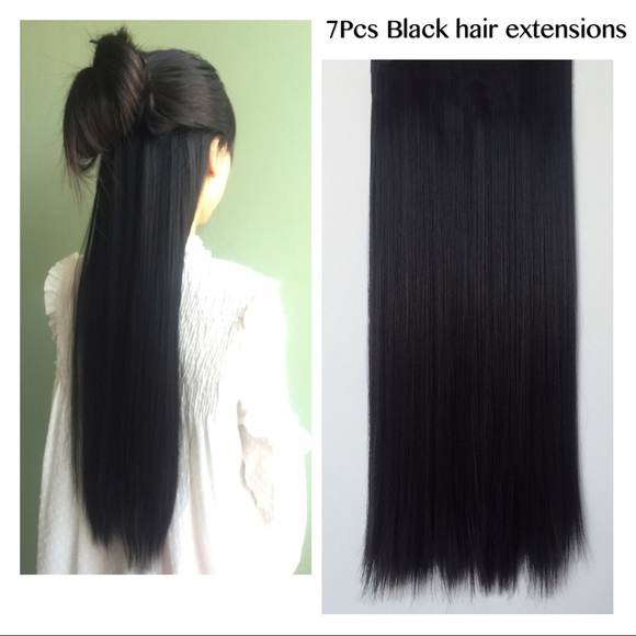 Accessories Black Hair Extensions Softtouchnaturallookwig Poshmark