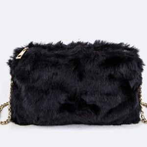 Handbags - Fur Crossbody Bag