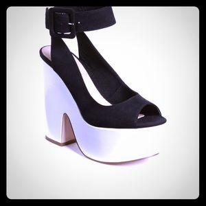 Top Shop Platform Ankle Strap Sandals