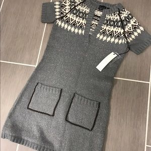 kersh Sweaters - Gray Patterned Sweater Dress - Perfect for Winter!