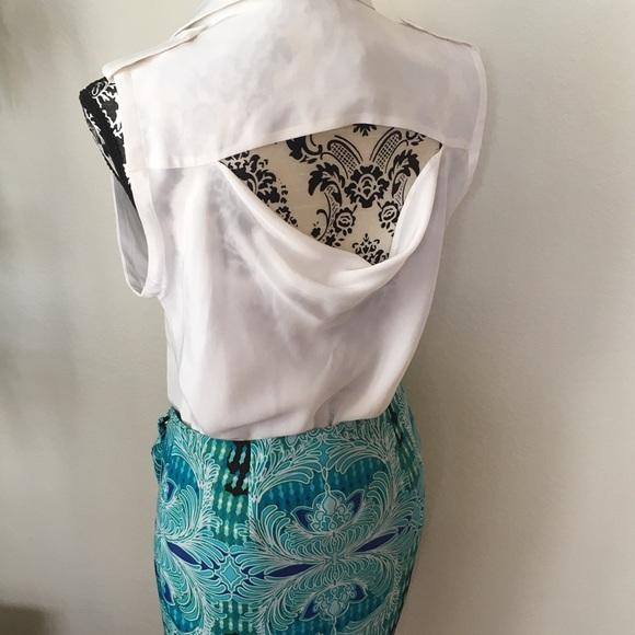 bebe Tops - Bebe sleeveless button-down open drape back top
