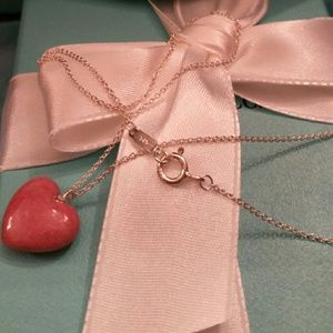 Tiffany & Co. Rhodonite Heart Necklace