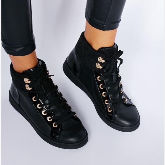 Aldo Shoes   Aldo Black And Gold High