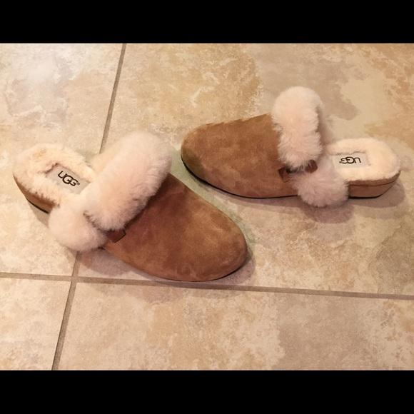 Ugg Eleanor chestnut suede sheepskin slippers 6. M 58295d754e8d1796370a5c04 8791735e3