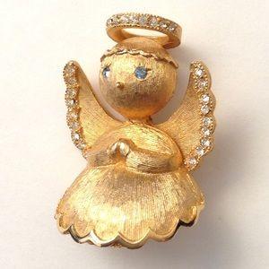 Vintage Jewelry - FINAL 🚫Vintage Gold ULTRA Signed  ANGEL BROOCH