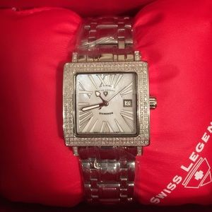 Swiss Legend Accessories - Swiss Legend watch with diamond chip accents.