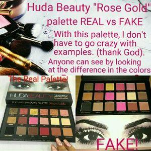 Huda Beauty Rose Gold palette REAL vs FAKE! NWT