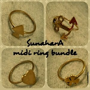 Sunahara Jewelry Jewelry - SunharA treasure charm midi ring bundle