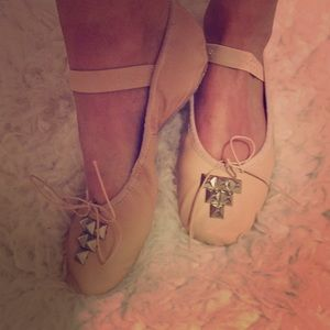 Miu Miu Shoes - Capezio studded Ballerinas