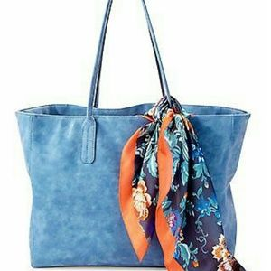 Saks Fifth Avenue Handbags - [new] Large Faux Suede Tote