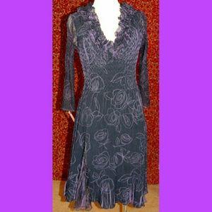 Komarov Dresses & Skirts - Komarov purple long sleeve dress M
