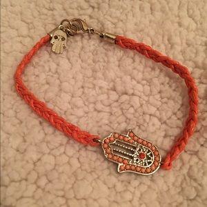 Orange Hamsa bracelet