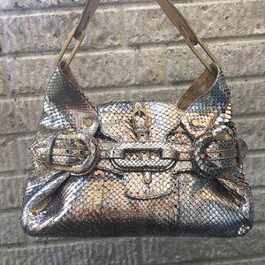 Jimmy Choo Handbags - Jimmy Choo Metallic Snakeskin Bag