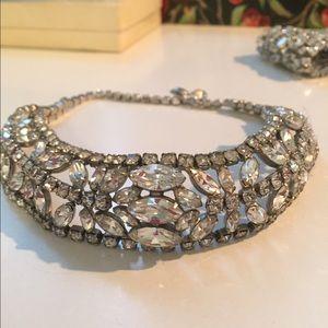 Vintage Rhinestone Crystal Choker