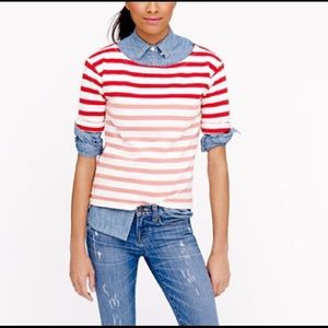 J Crew Terry Tee Striped