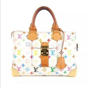 Louis Vuitton Multicolor Speedy 30 Blanc