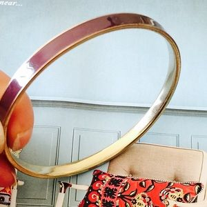 Anthropologie Jewelry - ❗️️️Anthropologie Plum & Gold Stackable Bangle $48