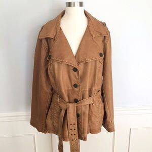 Big Chill Jackets & Blazers - Big Chill  Faux Leather Jacket/Trench Coat! NWT