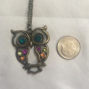 Ultra long owl necklace