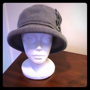 Gray wool flannel hat