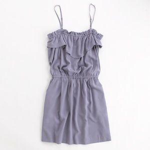 J.Crew Factory Solid Ruffle Dress