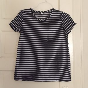 Lovely striped crew tee