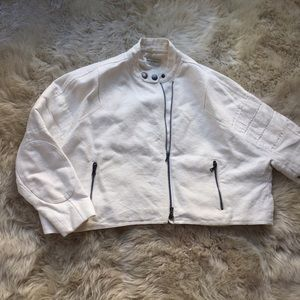 Dries Van Noten Jackets & Blazers - Dries Van Noten Cropped Moto Jacket