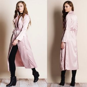 """Nocturne"" Long Satin Duster Jacket"
