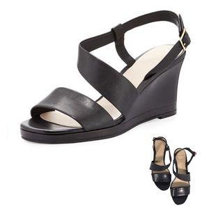 〰Sz 7.5 Cole Haan Ravenna Black Leather Wedge