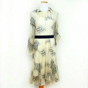 Komarov Dresses & Skirts - Komrov Sheer Pleated Dress