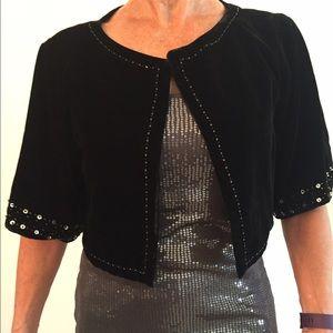Collection XIIX Jackets & Blazers - Velvet Bolero Jacket