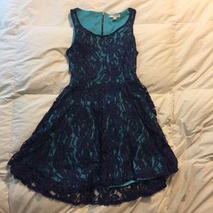 Dresses & Skirts - Blue Lace Dress