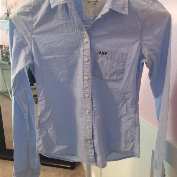f0970d93bb3 Abercrombie Button down Shirt in light blue
