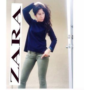 Zara Tops - ZARA elegant dark navy top xs