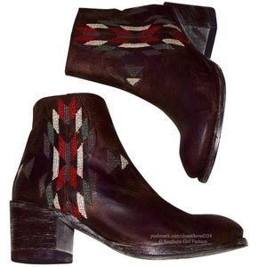 Old Gringo Shoes - OLD GRINGO Brown Ankle Boots Leather Cowgirl Shoes