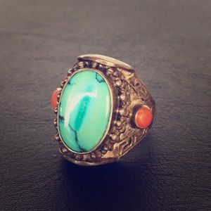 Jewelry - Turquoise and Gemstone ring