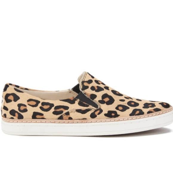 894bb0388e9 UGG Keile Calf Hair Leopard Slip On Flats NWT