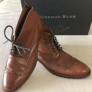 Gordon Rush Other - GORDON RUSH Cognac Wingtip Boots
