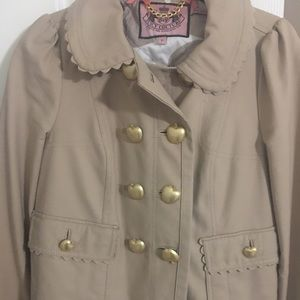 Juicy Couture beige jacket. Size small