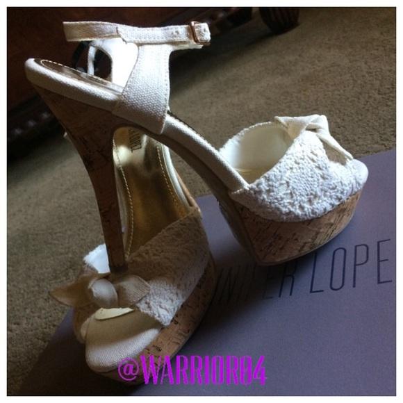 Women/'s JENNIFER LOPEZ FLEUR Black Platform Stiletto Heels Dress Sandals Shoes