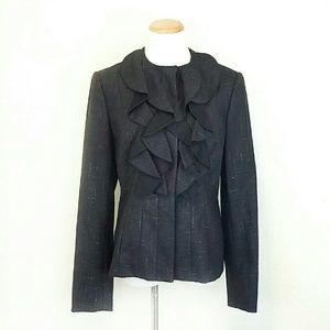 Carolina Herrera Jackets & Blazers - Carolina Herrera Ruffle Front Wool Jacket